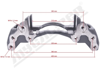Wabco Maxx 22 Caliper Carrier Left  sane